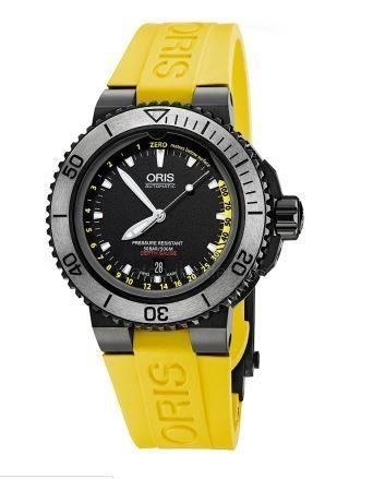 Oris Aquis Depth Gauge  Men's Watch 01 733 7675 4754- Set RS