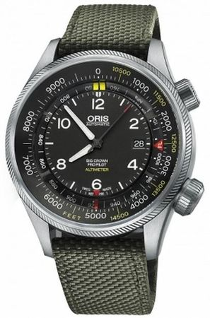 Oris Big Crown ProPilot Altimeter with Feet Scale  Men's Watch 01 733 7705 4134-07 5 23 14FC