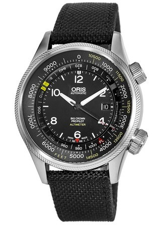Oris Big Crown ProPilot Altimeter with Feet Scale  Men's Watch 01 733 7705 4134-07 5 23 15FC