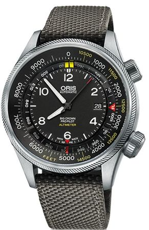 Oris Big Crown ProPilot Altimeter with Feet Scale  Men's Watch 01 733 7705 4134-07 5 23 17FC