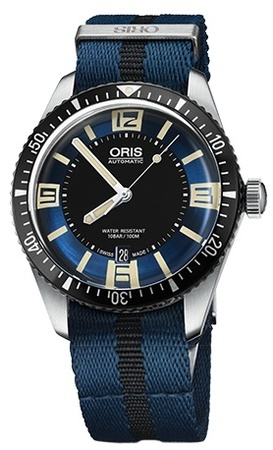 Oris Divers Sixty- Five Blue Dial Blue Fabric Men's Watch 01 733 7707 4035-07 5 20 29FC