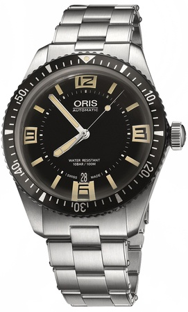 Oris Divers Sixty- Five Black Dial Steel Men's Watch 01 733 7707 4064-07 8 20 18