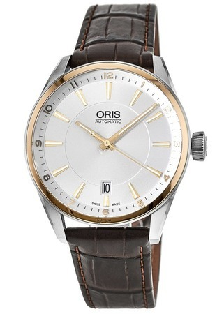 Oris Artix Date Rose Gold and Stainless Steel Men's Watch 01 733 7713 6331-07 5 19 80FC