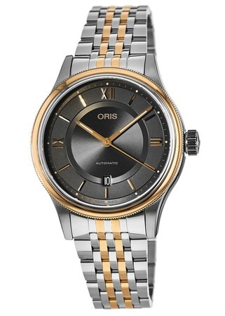 Oris Classic Date Grey Dial Two Tone Stainless Steel Men's Watch 01 733 7719 4373-07 8 20 12