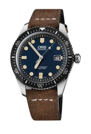 Oris Divers Sixty- Five Automatic Blue Dial Brown Leather Men's Watch 01 733 7720 4055-07 5 21 02