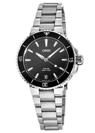 Oris Aquis Date Black Dial Stainless Steel Women's Watch 01 733 7731 4154-07 8 18 05P