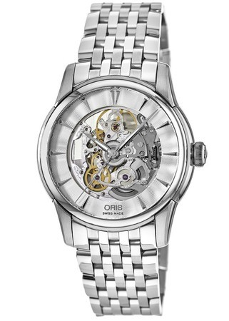 Oris Artelier Skeleton Automatic 40mm Steel Men's Watch 01 734 7670 4051-07 8 21 77