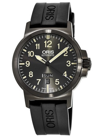 Oris BC3 Advanced Day Date Grey Dial Black Rubber Men's Watch 01 735 7641 4263-07 4 22 05G