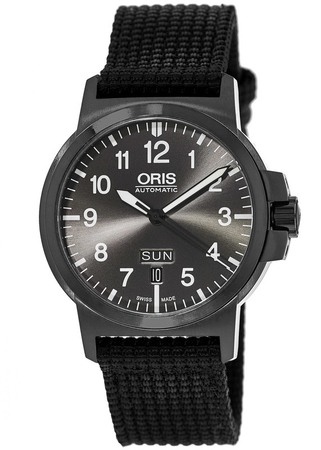 Oris BC3  Grey Dial Black Fabric Men's Watch 01 735 7641 4733-07 5 22 24B
