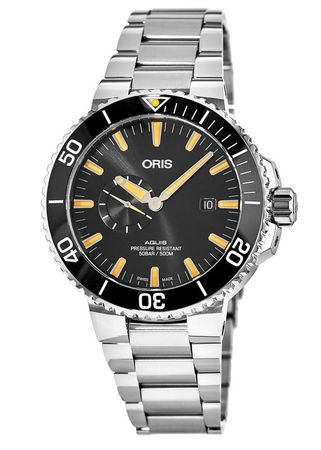 Oris Aquis Small Second, Date Black Dial Stainless Steel Men's Watch 01 743 7733 4159-07 8 24 05PEB