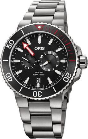 Oris Aquis Regulateur Der Meistertaucher Black Dial Titanium Men's Watch 01 749 7734 7154-Set