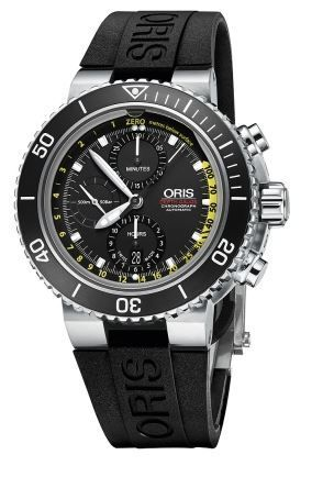 Oris Aquis Depth Gauge Chronograph Men's Watch 01 774 7708 4154- Set RS