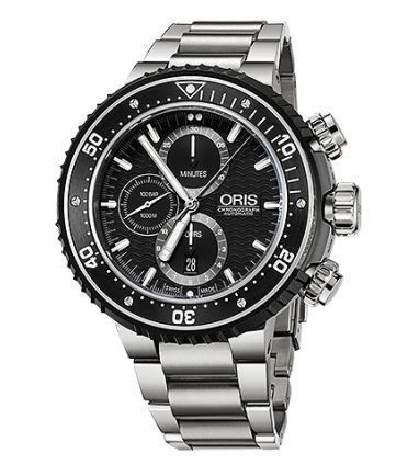 Oris ProDiver Chronograph  Men's Watch 01 774 7727 7154- Set