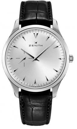 Zenith Heritage Ultra Thin Small Seconds Silver Dial Leather Strap Men's Watch 03.2010.681/01.C493