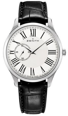 Zenith Heritage Ultra Thin Small Seconds White Dial Leather Strap Men's Watch 03.2010.681/11.C493