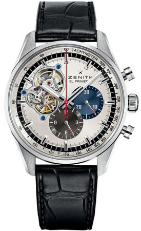 Zenith El Primero Chronomaster 1969 Silver Dial Leather Strap Men's Watch 03.2040.4061/69.C496