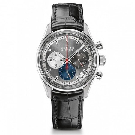 Zenith Chronomaster El Primero 38mm Grey Dial Black Leather Men's Watch 03.2150.400/26.C714