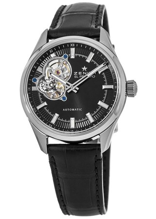 Zenith El Primero Synopsis 40mm Black Dial Leather Strap Men's Watch 03.2170.4613/21.C714