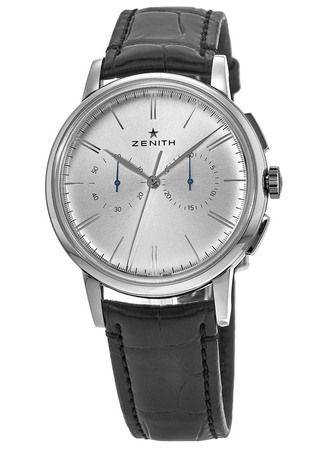 Zenith El Primero Chronograph Classic Silver Dial Leather Strap Men's Watch 03.2270.4069/01.C493