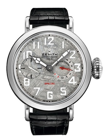 Zenith Pilot  Type 20  Tribute To Louis Bleriot  Sapphire and 18K White Gold Men's Watch 04.2421.5011/17.C714