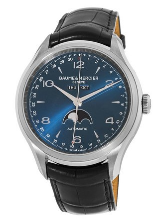 Baume & Mercier Clifton Automatic 43mm Calendar Moonphase Men's Watch 10057