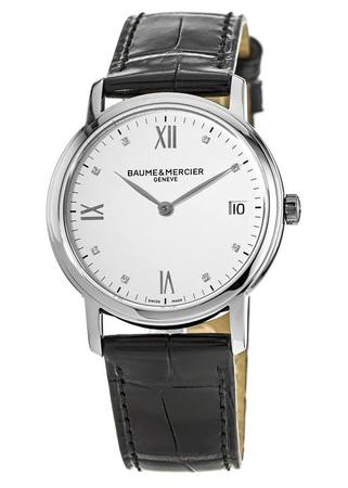 Baume & Mercier Classima Quartz White Dial Strap Women's Watch 10146