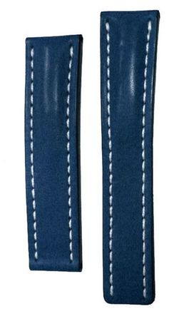 Breitling Leather 24-20mm Blue Leather Men's Strap 102X