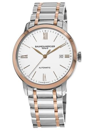 Baume & Mercier Classima Automatic Steel and Rose Gold Men's Watch 10314