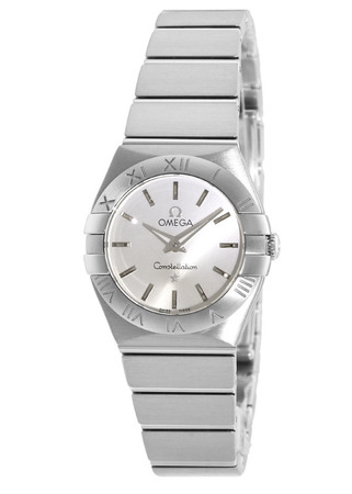 Omega Constellation Brushed Quartz 24mm  Women's Watch 123.10.24.60.02.001