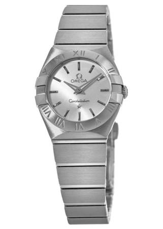 Omega Constellation Brushed Quartz 24mm Stainless Steel Women's Watch 123.10.24.60.02.001