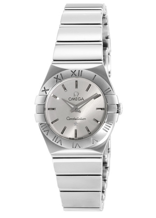 Omega Constellation Polished Quartz 24mm  Women's Watch 123.10.24.60.02.002