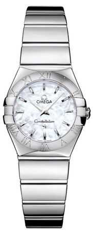 Omega Constellation Polished Quartz 24mm Mother of Pearl Dial Women's Watch 123.10.24.60.05.002