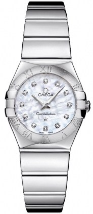 Omega Constellation Polished Quartz 24mm  Women's Watch 123.10.24.60.55.002