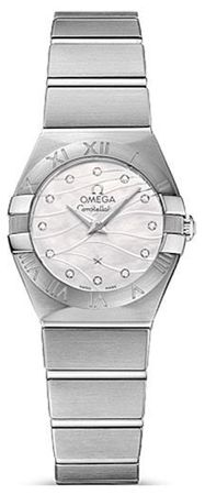 Omega Constellation Brushed Quartz 24mm  Women's Watch 123.10.24.60.55.003
