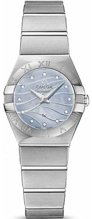 Omega Constellation Brushed Quartz 24mm  Women's Watch 123.10.24.60.57.001