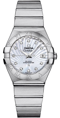 Omega Constellation Automatic Chronometer 27mm  Women's Watch 123.10.27.20.55.001