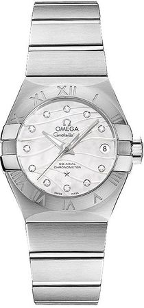 Omega Constellation Brushed Chronometer 27mm  Women's Watch 123.10.27.20.55.002