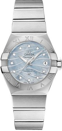 Omega Constellation Brushed Chronometer 27mm  Women's Watch 123.10.27.20.57.001
