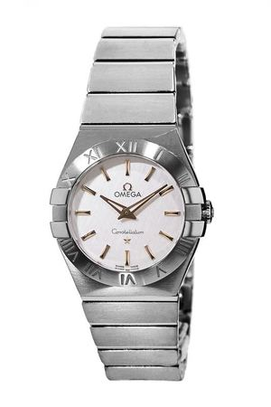 Omega Constellation Brushed Quartz 27mm Stainless Steel Women's Watch 123.10.27.60.02.004