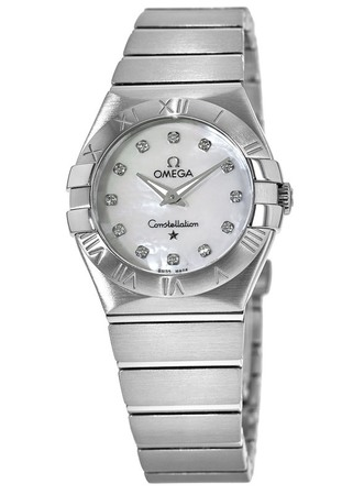 Omega Constellation Brushed Quartz 27mm  Women's Watch 123.10.27.60.55.001