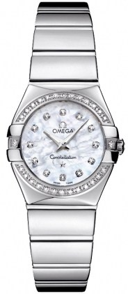 Omega Constellation Polished Quartz 24mm  Women's Watch 123.15.24.60.55.003