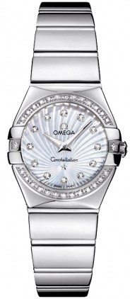 Omega Constellation Polished Quartz 24mm  Women's Watch 123.15.24.60.55.004