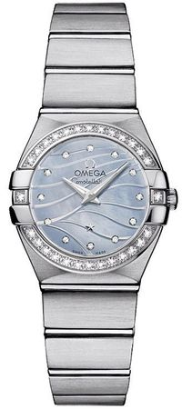 Omega Constellation Brushed Quartz 24mm  Women's Watch 123.15.24.60.57.001