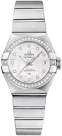 Omega Constellation Brushed Chronometer 27mm  Women's Watch 123.15.27.20.55.002