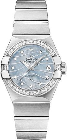 Omega Constellation Brushed Chronometer 27mm  Women's Watch 123.15.27.20.57.001