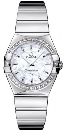 Omega Constellation Polished Quartz 27mm  Women's Watch 123.15.27.60.05.002