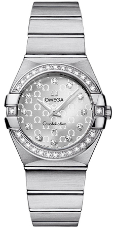 Omega Constellation Brushed Quartz 27mm  Women's Watch 123.15.27.60.52.001