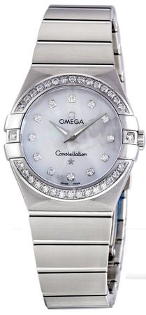 Omega Constellation Brushed Quartz 27mm  Women's Watch 123.15.27.60.55.001