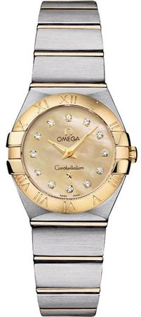 Omega Constellation Brushed Quartz 24mm  Women's Watch 123.20.24.60.57.001