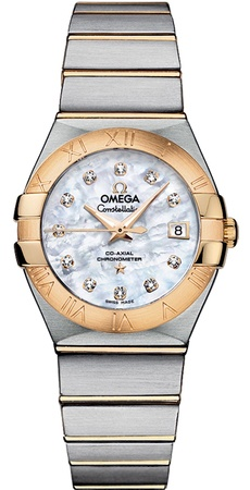 Omega Constellation Automatic Chronometer 27mm  Women's Watch 123.20.27.20.55.003
